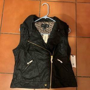 Large leather vest